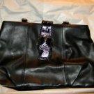 Coach Soho Black Leather Carryall Handbag Purse $378 NWT Large Size F19248