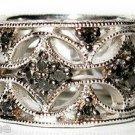 1/3 CT Black Diamond Sterling Silver Wide Eternity Ring