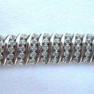 5-Row 2.00 Ct Diamond Tennis Bracelet Sterling Silver .925 S Link Design