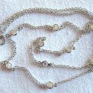 """4.30 Ct White CZ Station Necklace by the Yd Sterling Silver .925 18"""" Cable Chain"""