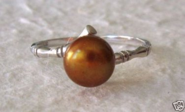 7.5-8M CULTURED CHOCOLATE PEARL RING STERLING SILVER