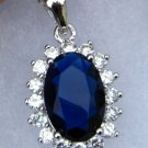 Royal Blue & White CZ Pendant