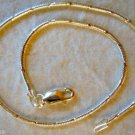 Italian Made Sterling Silver .925 Diamond Cut Snake Chain Wrist Bracelet 7""