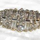 .93 Ct Diamond Ring 14k Gold Round & Baguette Anniversary Ring $3000 Appraisal