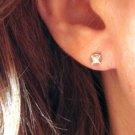 .17 Carat Single Princess Cut 14K White Gold Diamond Stud Earring