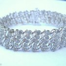 5-Row 2.00 Ct Diamond Tennis Bracelet S Link Design Silver Rhodium Plated Brass