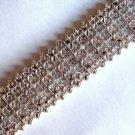 """2.0 Carat Diamond Tennis Bracelet 9-Row Sterling Silver .925 3/4"""" Wide 7.5"""" Long"""