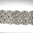 "2.00 Carat Diamond Tennis Bracelet Sterling Silver .925 Lattice 3/4"" Wide 7.5"""