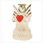 Glass Angel Figurine with LED Light