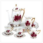 Ceramic Roses Mini Tea Set