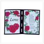 Poetic Love Simulated Stain Glass Plaque