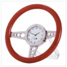 Wood Racer Steering Wheel Desk Clock