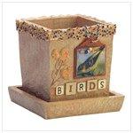 Birds Scrapbook Pots & Cache