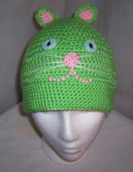 Lime Green Cat Hat