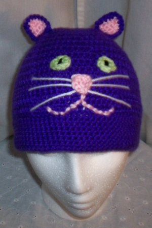 Bright Purple Cat Hat