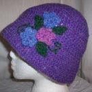 Purple Wool Flower Cloche