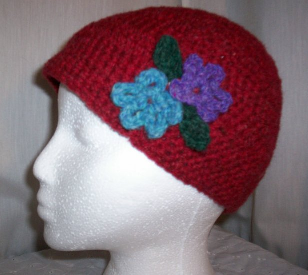 Red Flower Cloche