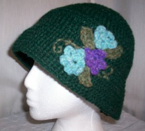 Green Flower Cloche