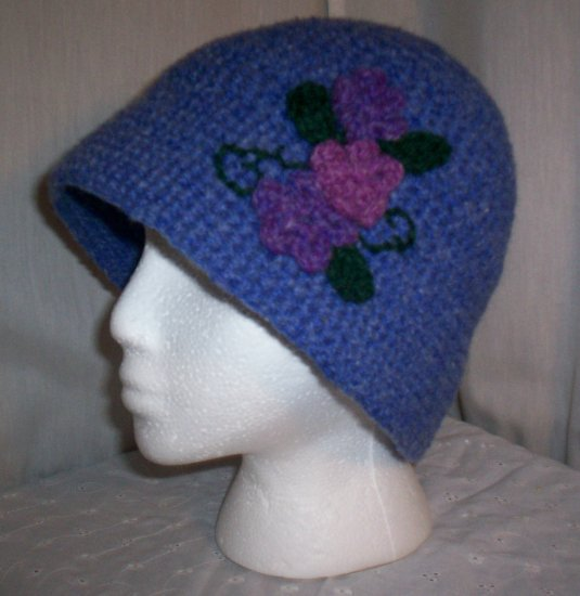 Blue Flower Cloche