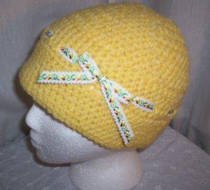 Yellow Ribbon Cloche