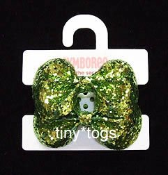 NWT Gymboree Snow Princess Green Glitter Hair Ponies 5