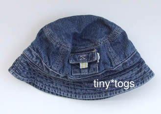 Gymboree My Dinosaur Denim Bucket Hat 6 9 12 EUC