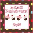 M2MG Cupcake Cutie Background Set for Templates