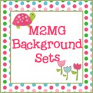 M2MG Tennis Match Turtle Background Set for Templates