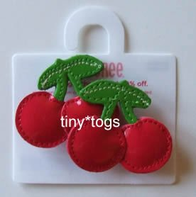 NWT Gymboree Cherry Baby Patent Hair Clips 2T 3 4 5 New