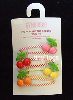 NWT Gymboree Cherry Baby Hair Snap Clips New 4 5 6 7 8