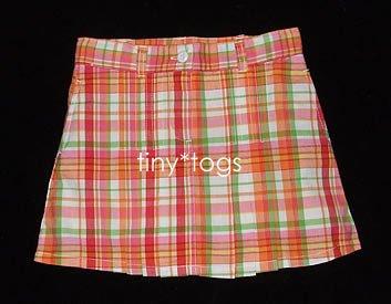 NWOT New Gymboree Cherry Baby Plaid Pleated Skirt 5 5T