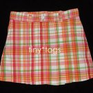 NWOT New Gymboree Cherry Baby Plaid Pleated Skirt 5 5T