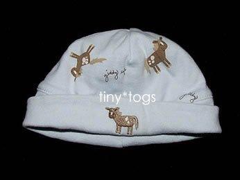Gymboree E-I-E-I-O Pony Horse Layette Hat Cap 0 3 m