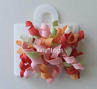 NWT Gymboree Beach Shack Multi Hair Curly Clips 2T 3T 3