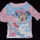 Disney Store Minnie Mouse Skiing Pink Pajama Top 4T 4