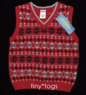 NWT Gymboree Holiday Classics Fair Isle Sweater Vest 2T