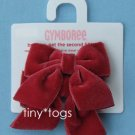 NWT Gymboree Holiday Pictures Red Velvet Hair Bow Clips