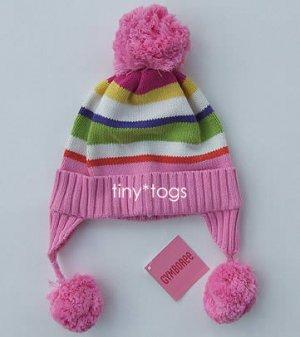 NWT Gymboree Candy Shoppe Pink Pom Pom Hat 5 6 7 New