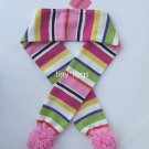NWT Gymboree Candy Shoppe Striped Scarf Pom Pom 5 6 7 8