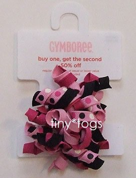 NWT Gymboree Wild One Pink Black Dot Curly Ponies 5 6 7