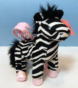NWT Gymboree Wild One Zebra Plush Purse Bag 3 4 5 6 New