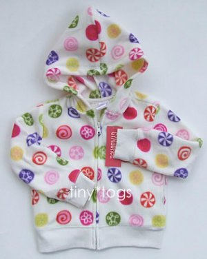 NWT Gymboree Candy Shoppe Print Fleece Hoodie 4 4T New