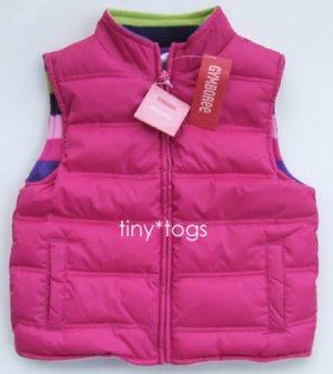 NWT Gymboree Candy Shoppe Puffy Vest Pink Medium 7 8