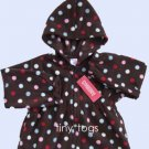 NWT Gymboree Winter Snowflake Dot Fleece Hoodie 4T 4