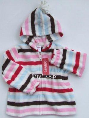 NWT Gymboree Winter Snowflake Stripe Fleece Hoodie 4T 4