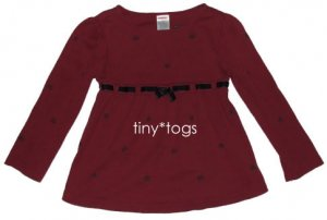 Gymboree Family Portrait Red Swing Velvet Bow Top 4 4T