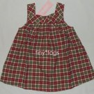 NWT Gymboree Gingerbread Cookies Plaid Dress 18 24 2T