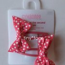 NWT Gymboree Happy Rainbow Coral Polka Dot Bows Clips
