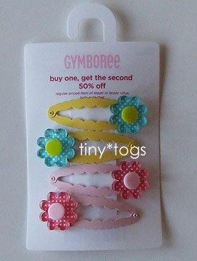 NWT Gymboree Happy Rainbow Dot Flower Hair Clips 5 6 7