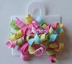 NWT Gymboree Happy Rainbow Multi Hair Curly Clips 3T 2T